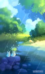 rain is fun by Apofiss