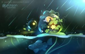 bubble dino by Apofiss
