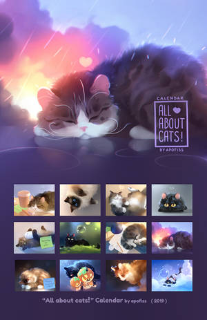 2019 calendar - All about Cats!