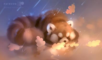 snuggling puff
