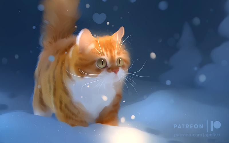 winter stroll +video! by Apofiss on DeviantArt