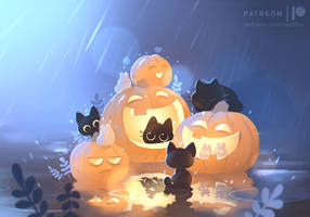 pumpkin party ( live wallpaper ) by Apofiss