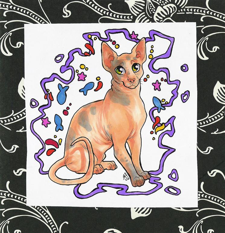 kitty card by Janaita