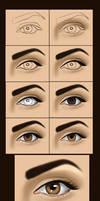 very simple eye painting