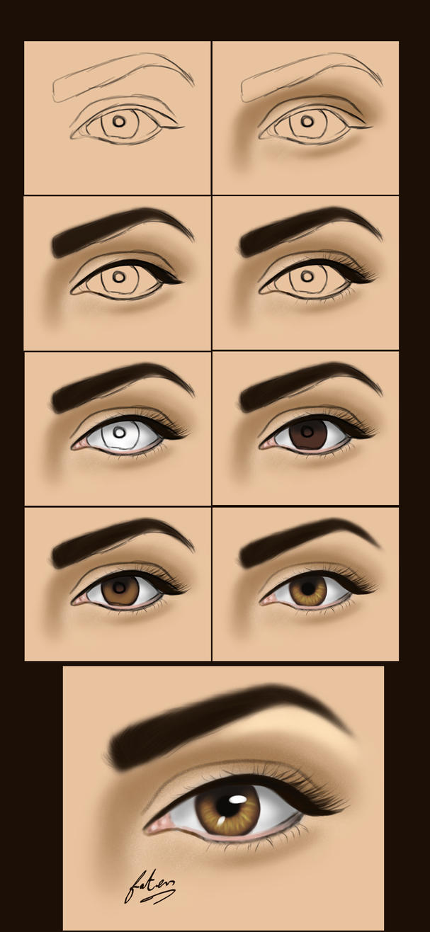 Very simple eye painting by vanellia on deviantart for How to paint something easy