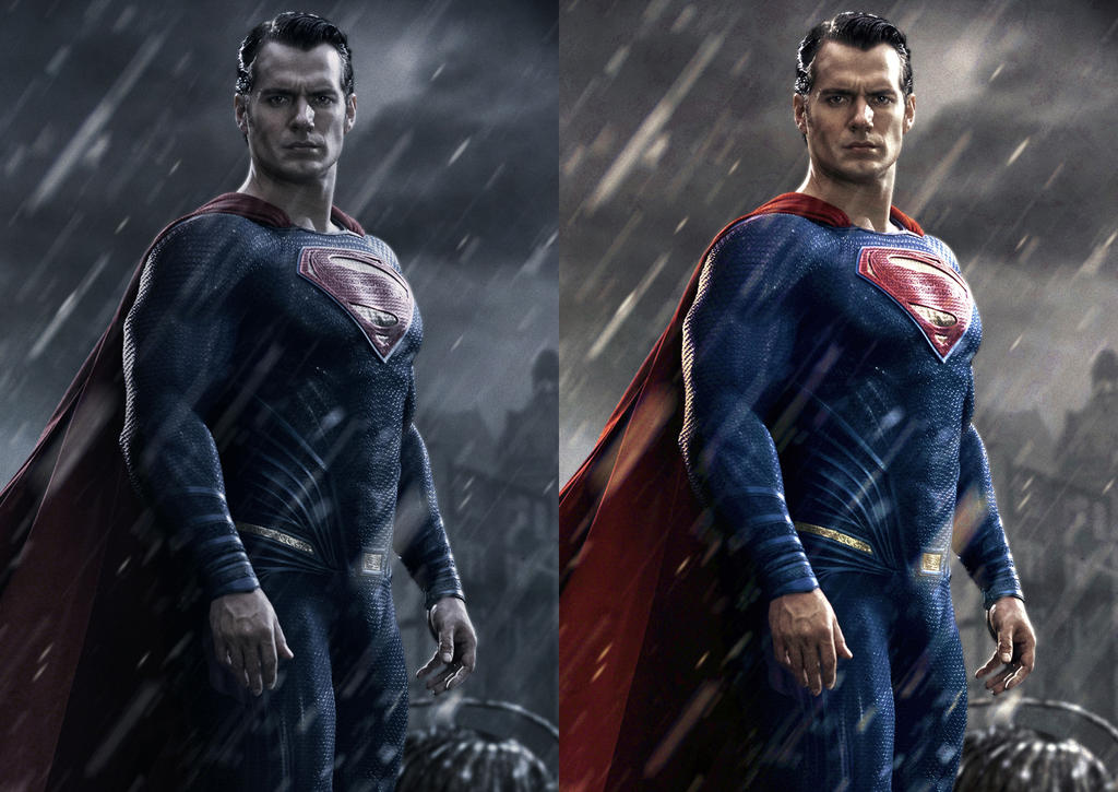 dawn of justice superman colour edit comparison by grimeministar - Superman Pictures To Colour