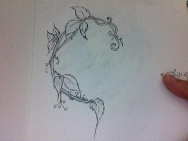 Leaf and Vine Tattoo