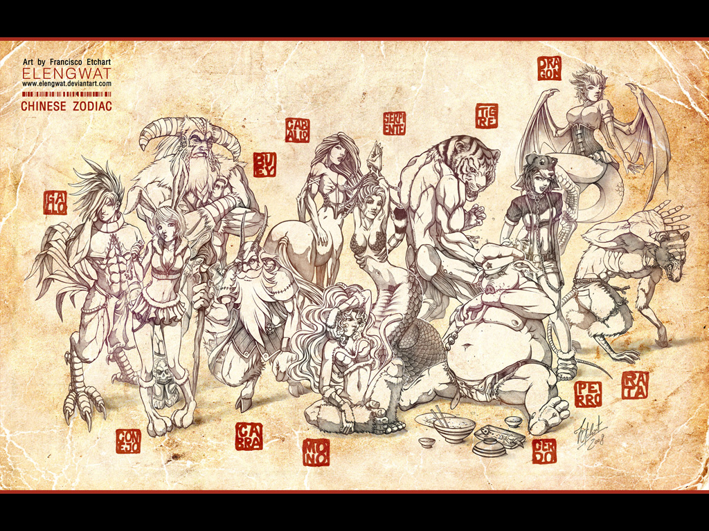 Chinese Zodiac Wallpaper By FranciscoETCHART On DeviantArt