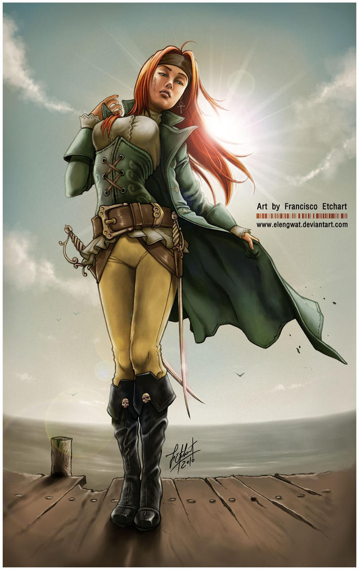 Pirate Girl IV by FranciscoETCHART on DeviantArt - photo#33