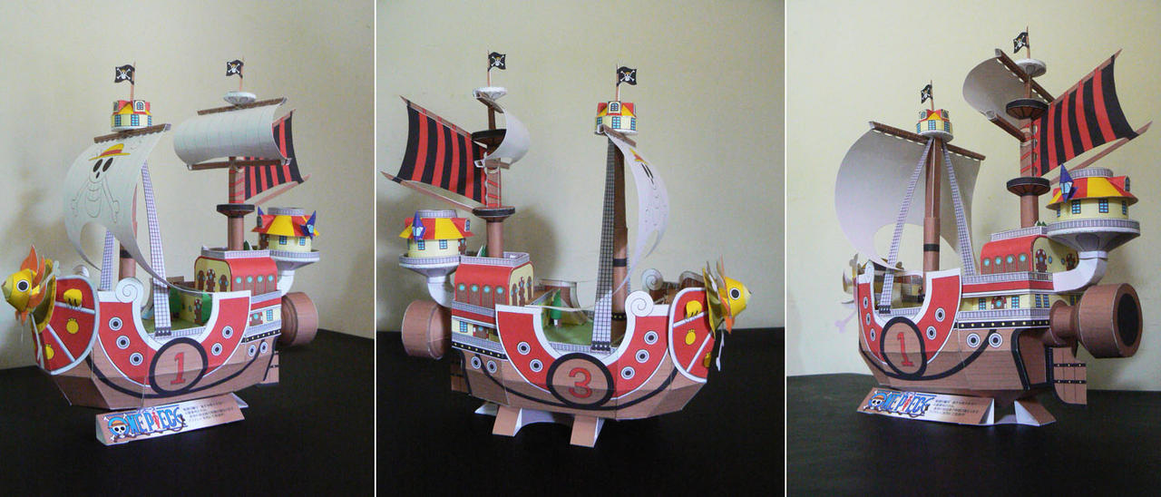 Thousand Sunny_Papercraft by FranciscoETCHART