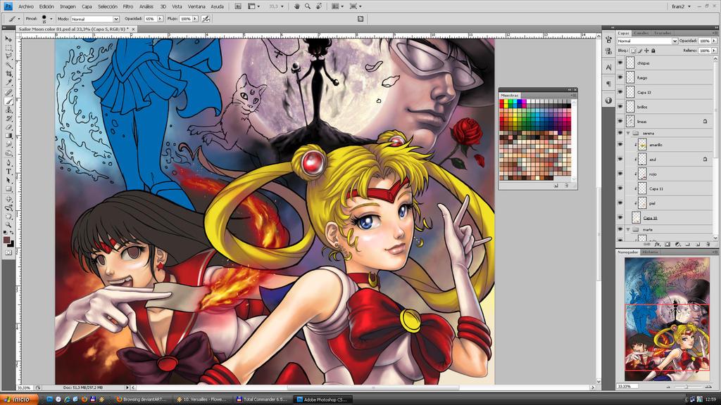 Sailor Moon WIP by FranciscoETCHART