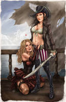 The Buccaneer and her lover by FranciscoETCHART