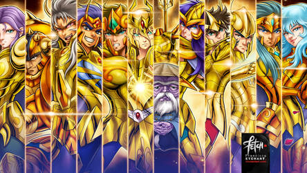 GOLD SAINTS wallpaper by FranciscoETCHART