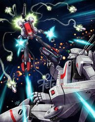 Robotech_ Rick VS Khyron by FranciscoETCHART