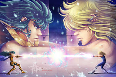 Hyoga VS Camus by FranciscoETCHART