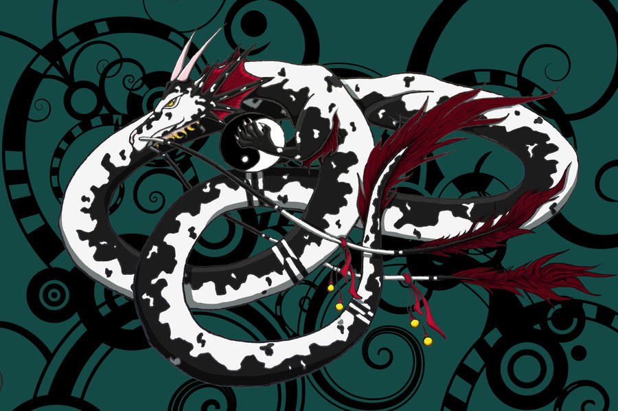 Yin Yang Dragon by ziara13 on DeviantArt
