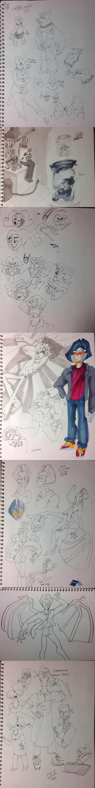 Random Doodles 687 by AgentBlackBlood