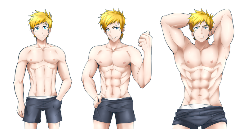 how to draw anime muscular guys