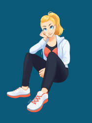 Adora is a jock and you cant convince me otherwise by yainedraws
