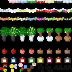 RPG Maker VX Ace tilesets 4 decorations tilesets by Hishimy