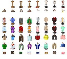 RPG Maker VX Ace tilesets 6 clothes tilesets by Hishimy