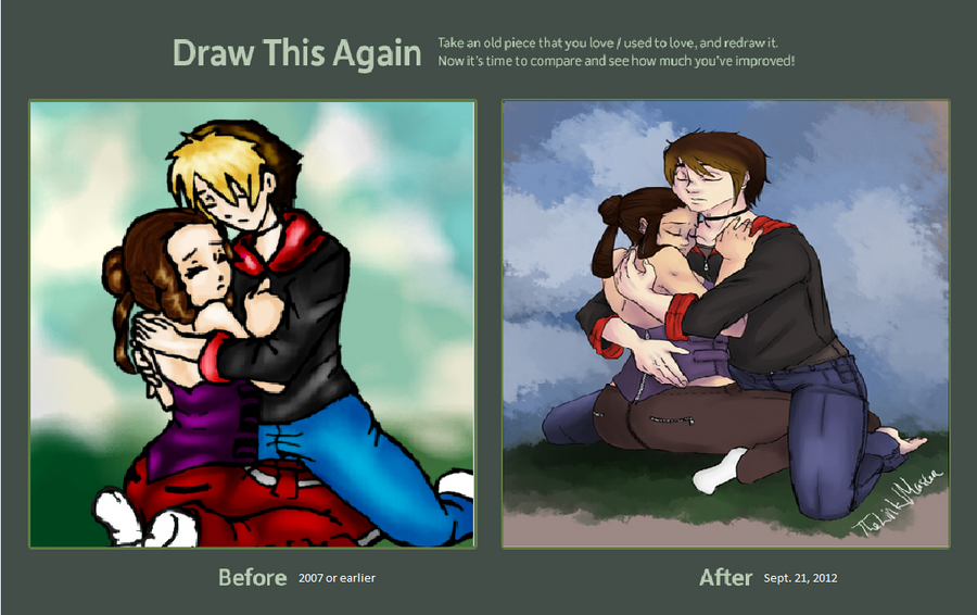 Draw This Again Contest: Zeek and Amora by TheLinkMaster