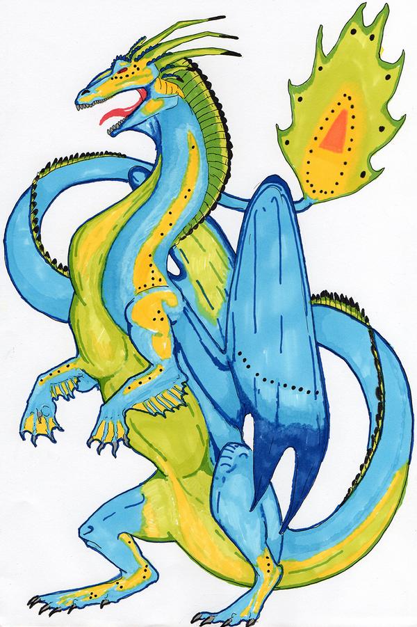 Bit of blue, green and yellow by Katkiz