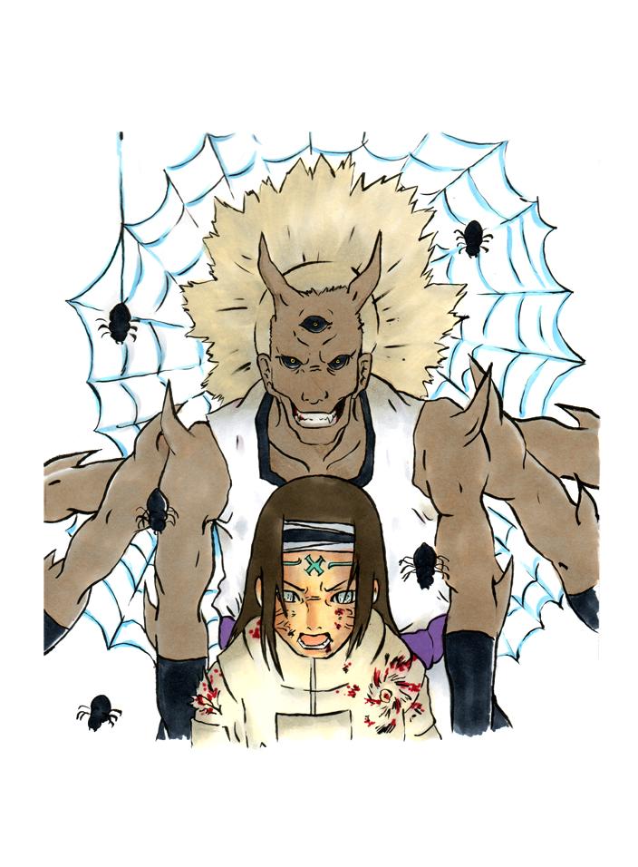 Kidomaru versus Neji by GinFreeks on DeviantArt