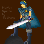 Marth Sprite by ffadicted