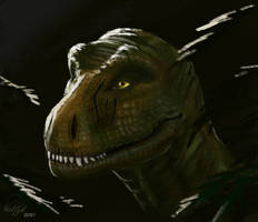 T-Rex - Lurking for prey - Study by wolfzol