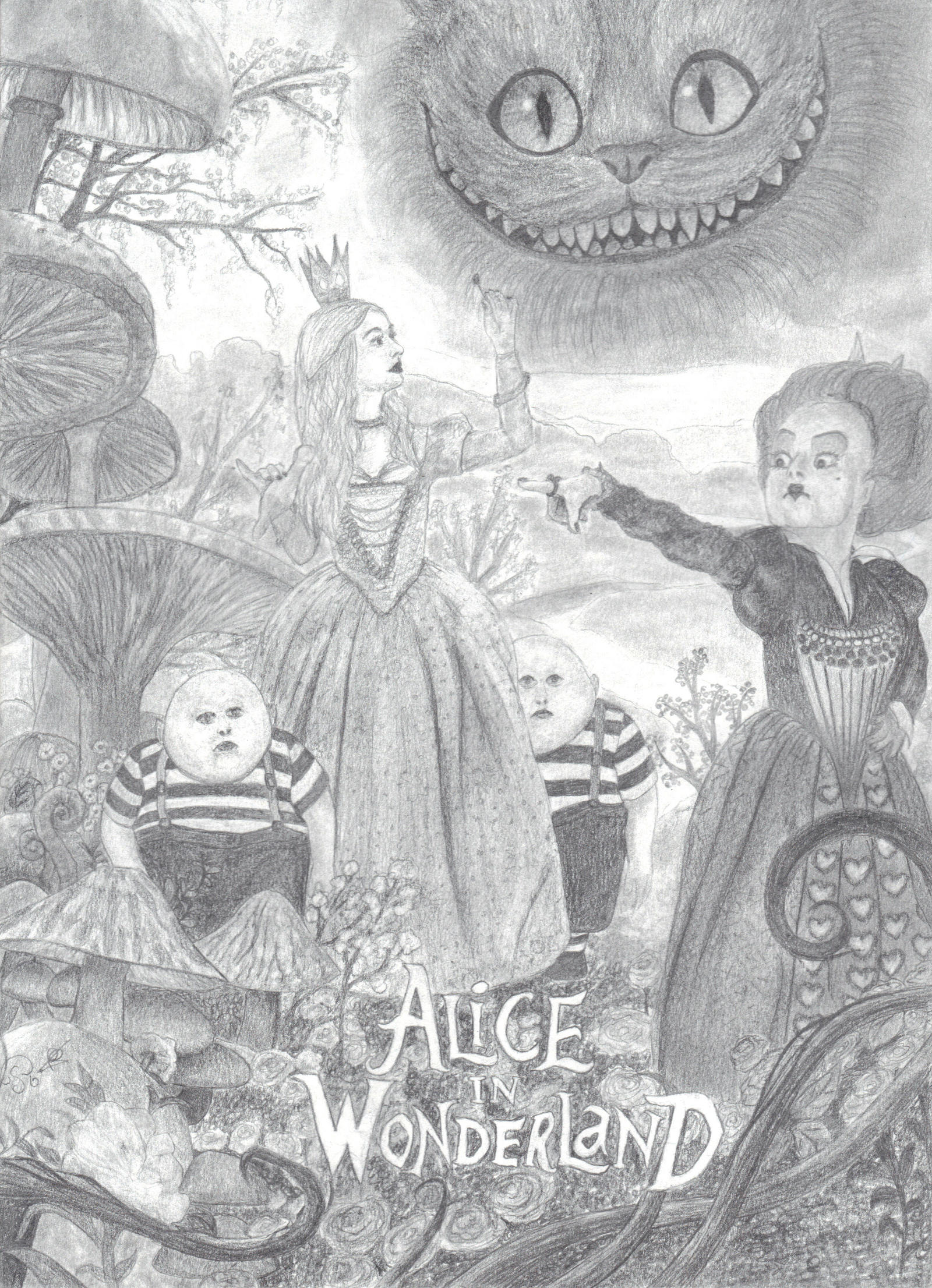 Uncategorized Drawings Of Alice In Wonderland alice in wonderland part 1 by one film drawing on deviantart drawing