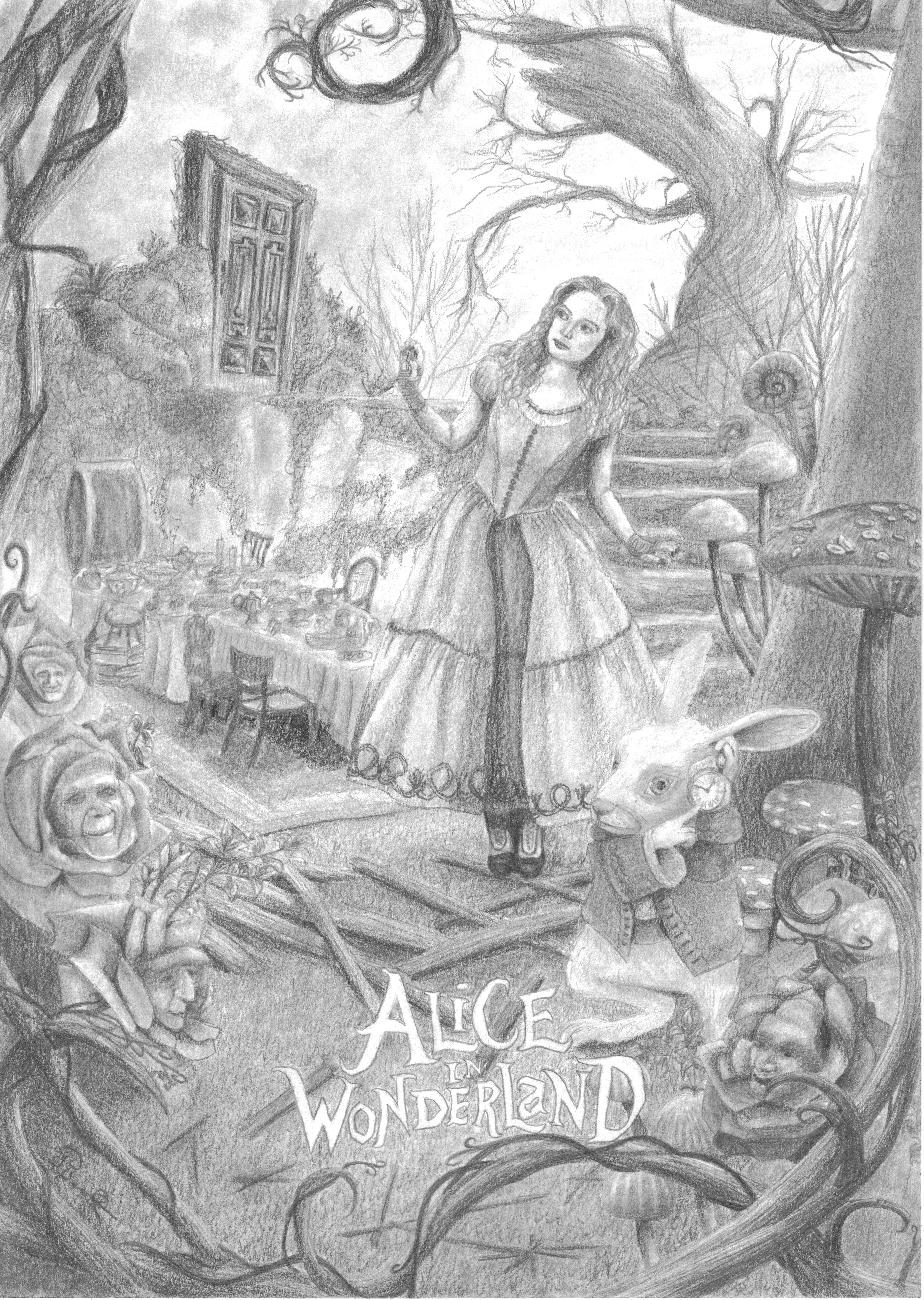 Alice in Wonderland - Part 3 by one-film-one-drawing