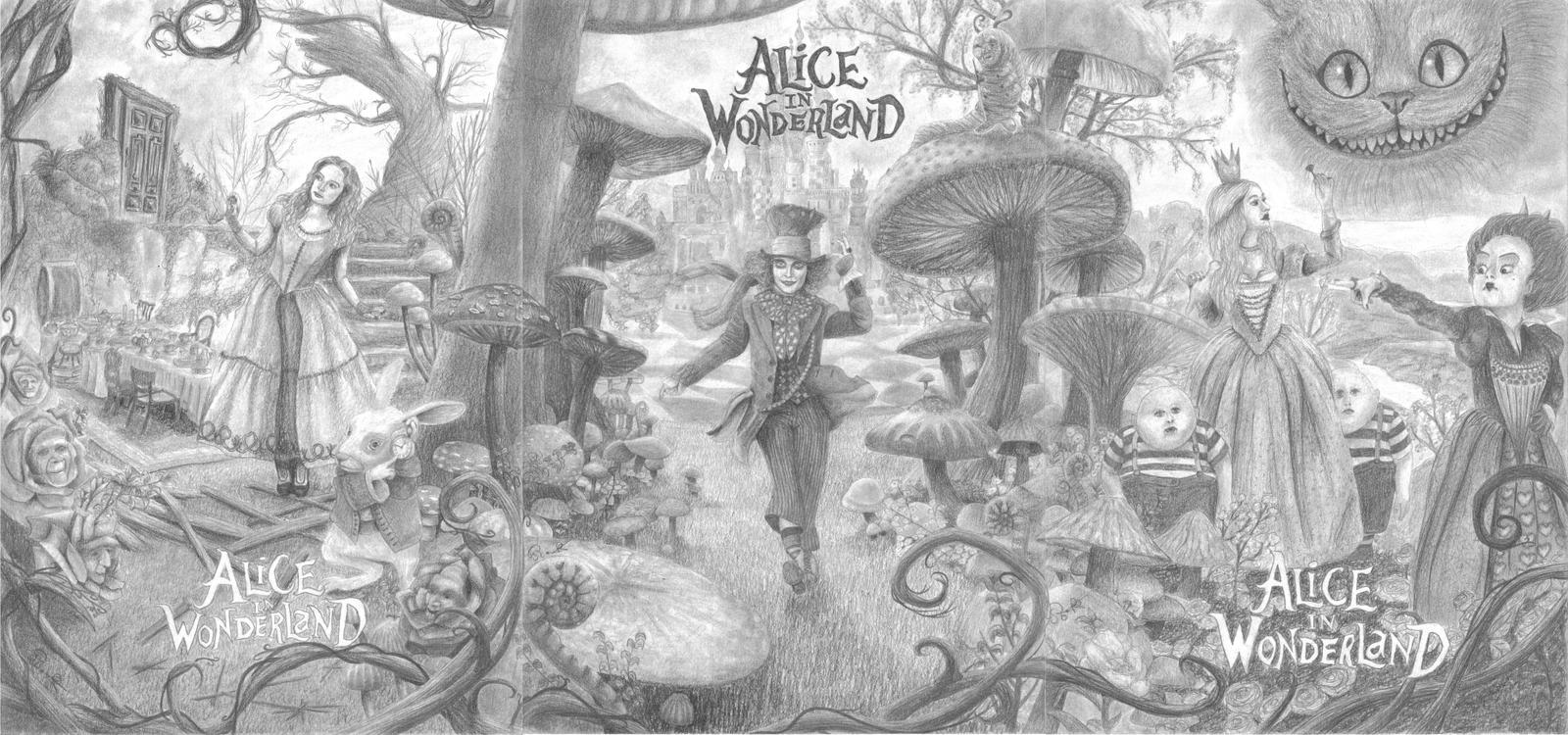 Uncategorized Drawings Of Alice In Wonderland alice in wonderland by one film drawing on deviantart drawing