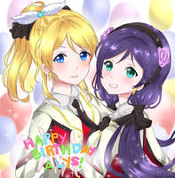 Eli and Nozomi Surprise by rinachin