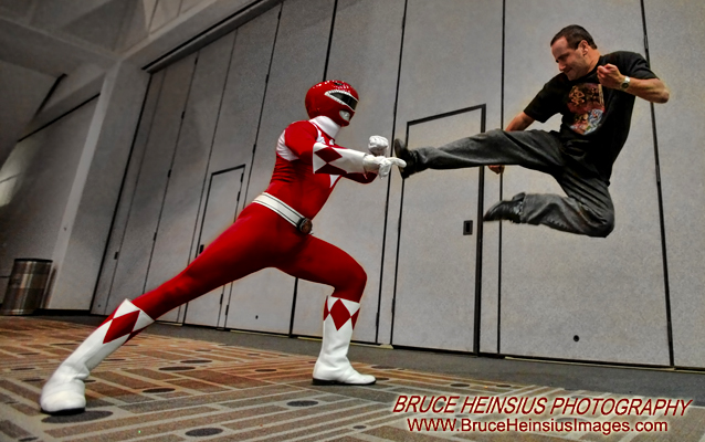 Photo Man Attacks Power Ranger by Brucer007
