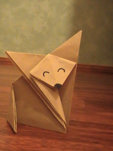 Fox origami by Wolfwoman24