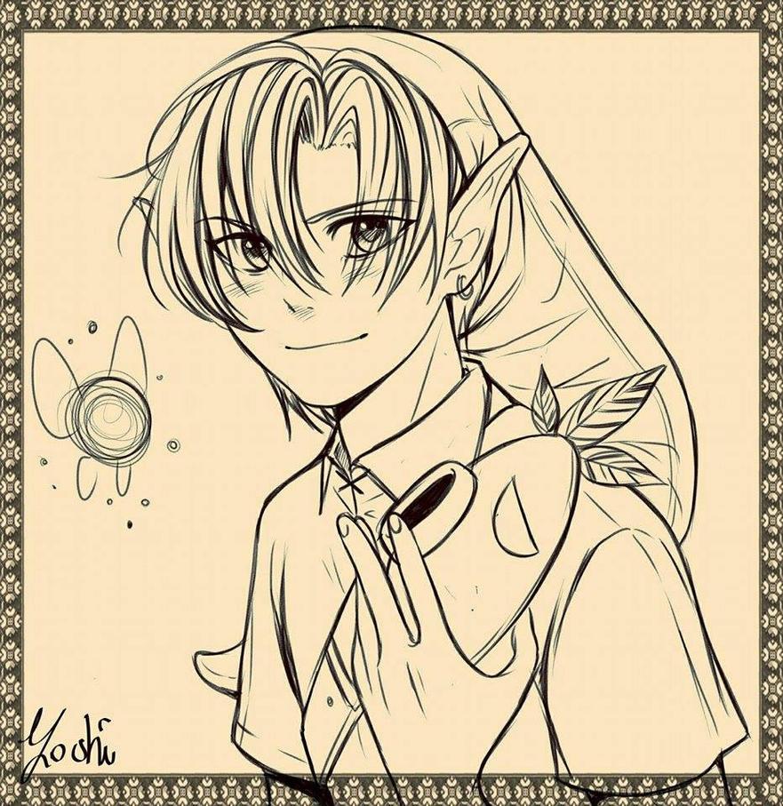 Link Majora's mask by Yoshiioka