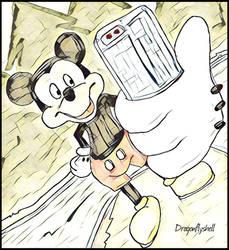 Mickey's Selfie at Summoner's Rift by dragonflyshell