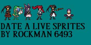 Date a live sprites By Rockman6493 by RockMan6493