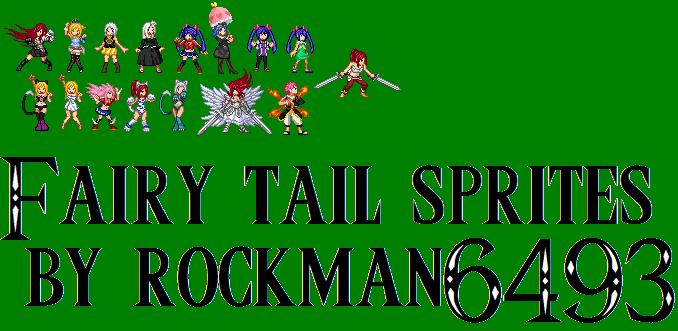 Fairy tail sprites by rockman by RockMan6493