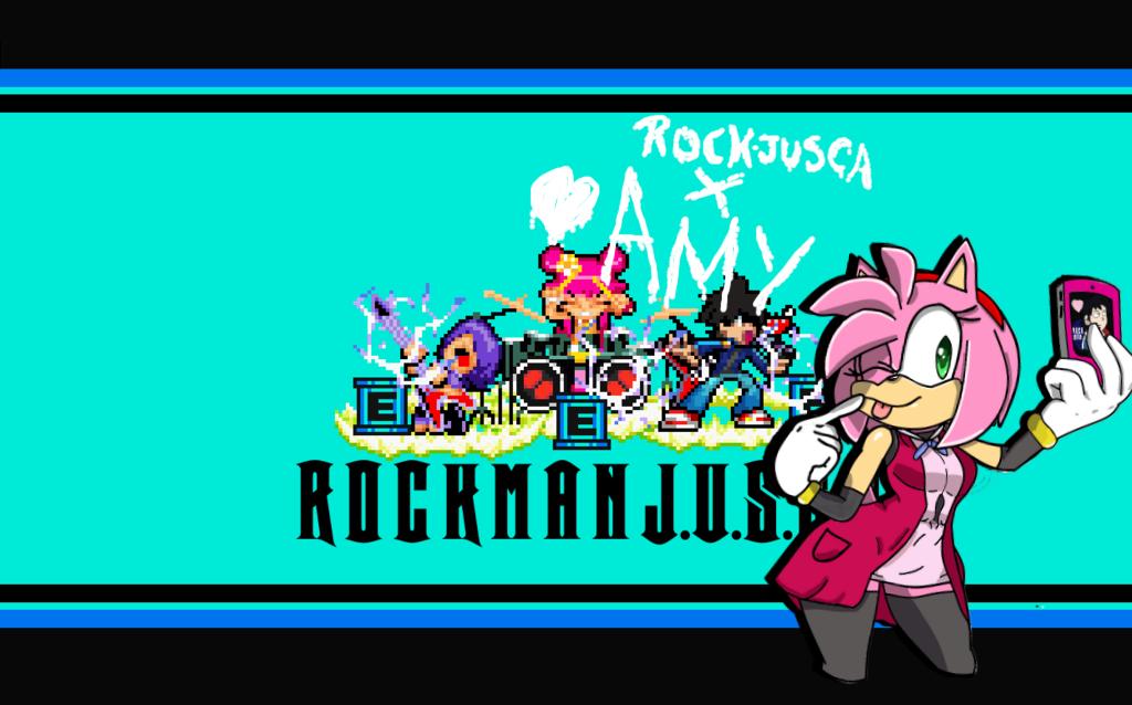 AmyRosexRockMan (NewGrounds) by RockMan6493