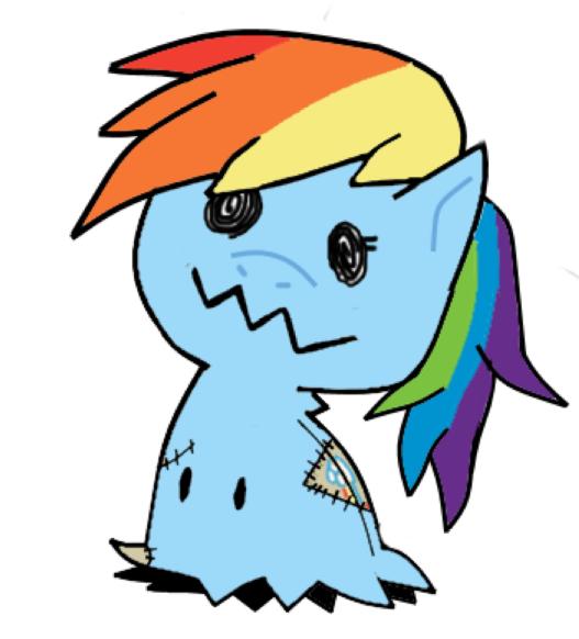 Mimikyu Rainbow Dash by RockMan6493