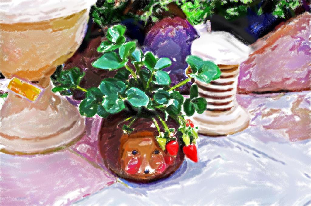 Plant Strawberry 0173 (4art) by MAKRADA