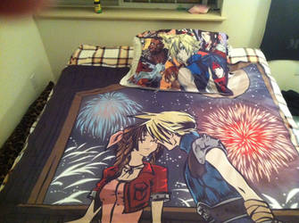 Final Fantasy VII Blanket and Pillowcase Set by TheSpyWhoLuvedMe