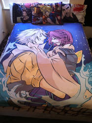Tidus x Yuna Blanket Commission by TheSpyWhoLuvedMe