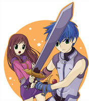 Star Ocean- Fayt and Sophia by TheSpyWhoLuvedMe