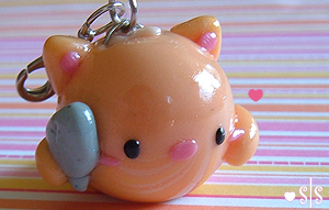 Orange Cat Charm by y2687