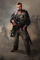 Dan (post-apocalyptic character design)