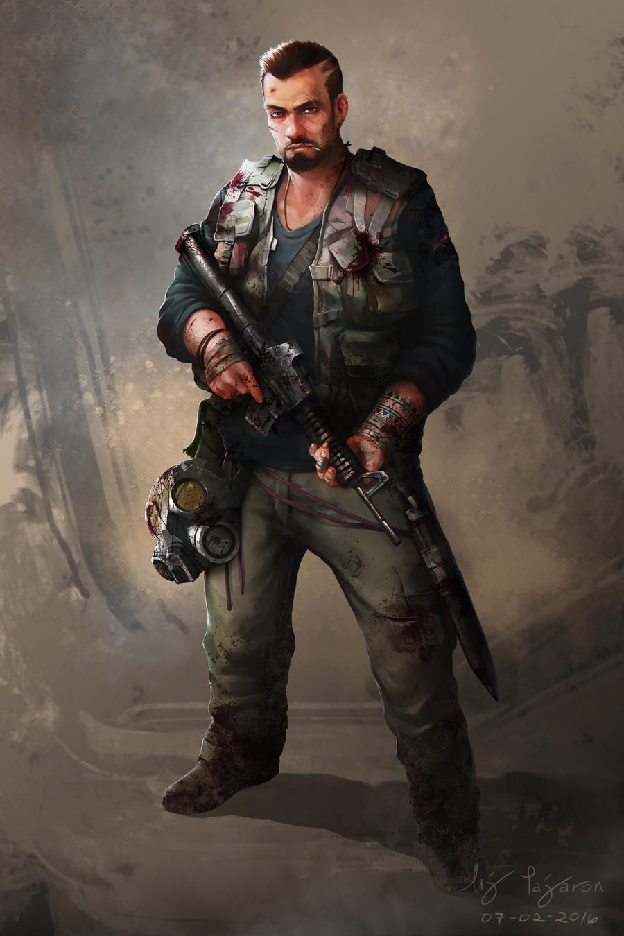Dan Post Apocalyptic Character Design By Janemini On