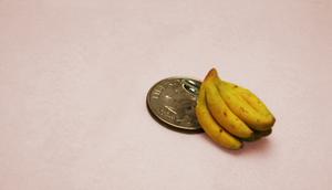 Mini banana bunch charm by LadyDeven